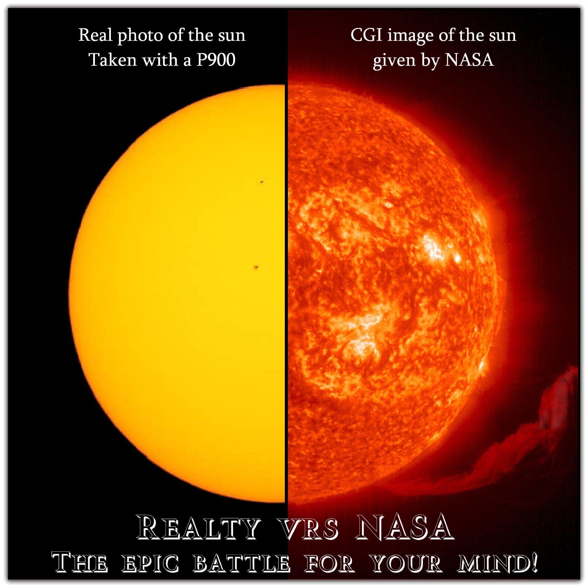 太陽の比較写真